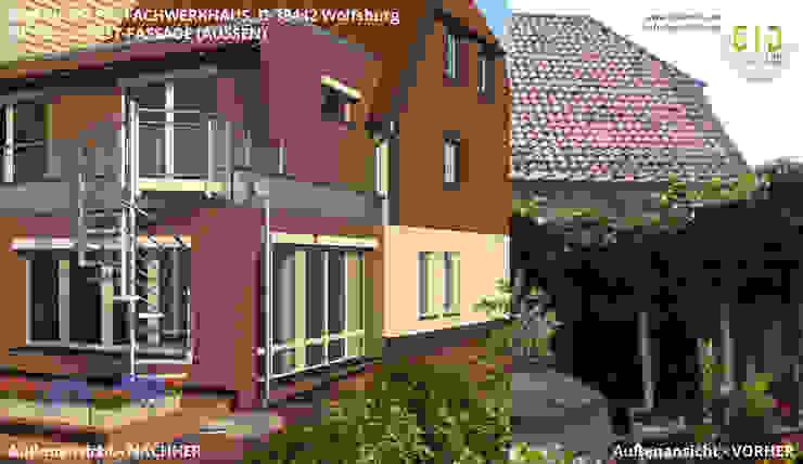 Denkmalgeschütztes Fachwerkhaus Wolfsburg, Architektur - Nord- u. Westfassade von GID│GOLDMANN-INTERIOR-DESIGN - Innenarchitekt in Sehnde