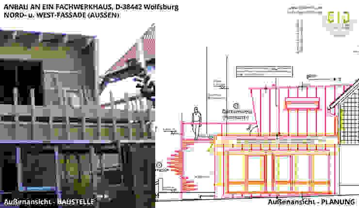 Denkmalgeschütztes Fachwerkhaus Wolfsburg, Architektur - Anbau: Baustelle und Planung von GID│GOLDMANN-INTERIOR-DESIGN - Innenarchitekt in Sehnde