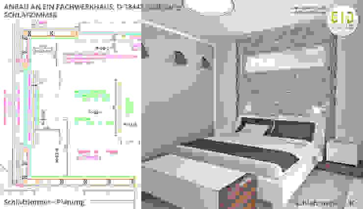 Denkmalgeschütztes Fachwerkhaus Wolfsburg, Innenarchitektur - Schlafzimmer von GID│GOLDMANN-INTERIOR-DESIGN - Innenarchitekt in Sehnde