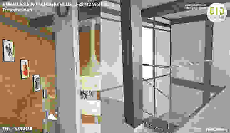 Denkmalgeschütztes Fachwerkhaus Wolfsburg, Innenarchitektur - Treppenraum von GID│GOLDMANN-INTERIOR-DESIGN - Innenarchitekt in Sehnde