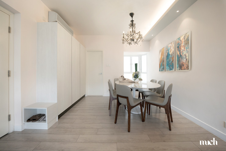 Beverly Hills Happy Valley Hong Kong Island Minimalist dining room by Much Creative Communication Limited Minimalist
