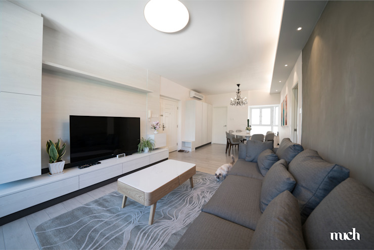 Beverly Hills Happy Valley Hong Kong Island Minimalist living room by Much Creative Communication Limited Minimalist Wood-Plastic Composite