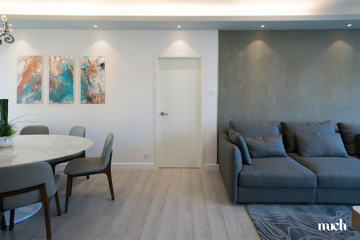 Beverly Hills Happy Valley Hong Kong Island Minimalist living room by Much Creative Communication Limited Minimalist Concrete