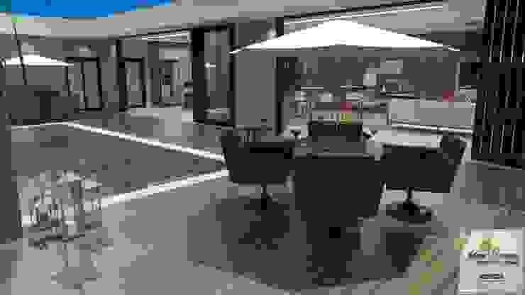 Piscinas de estilo moderno de Juliana Saraiva Arquitetura & Interiores Moderno Madera Acabado en madera