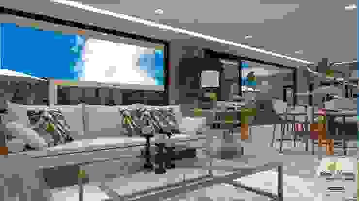 Salones de estilo moderno de Juliana Saraiva Arquitetura & Interiores Moderno