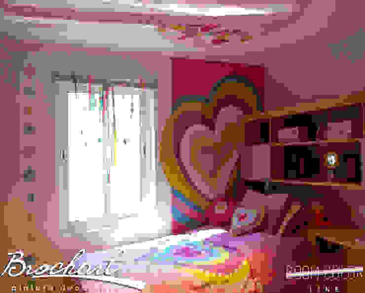 Técnica Corazones © Brochart pintura decorativa Paredes y pisosRevestimientos de paredes y pisos