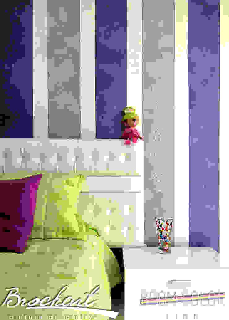 Técnica Rayas Chic © Brochart pintura decorativa Paredes y pisosRevestimientos de paredes y pisos