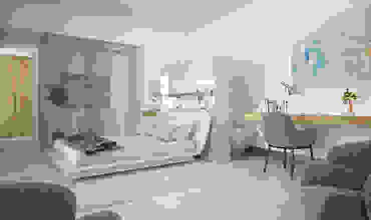 غرفة نوم تنفيذ AVANTUM, حداثي