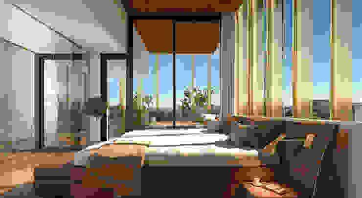 Diseño de apartamentos de lujo en Marbella Dormitorios de estilo moderno de AVANTUM Moderno