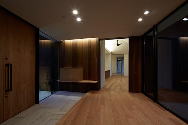 Modern Corridor, Hallway and Staircase by arc-d Modern
