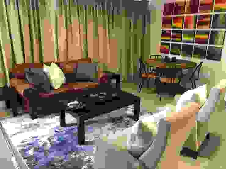 Living area by Lean van der Merwe Interiors Eclectic
