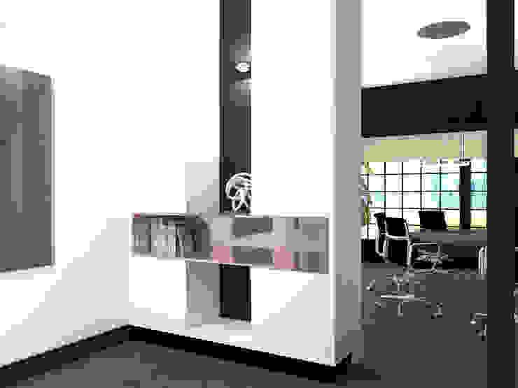Ensuitekast Moderne kantoor- & winkelruimten van VAN VEEN INTERIOR DESIGN Modern Hout Hout