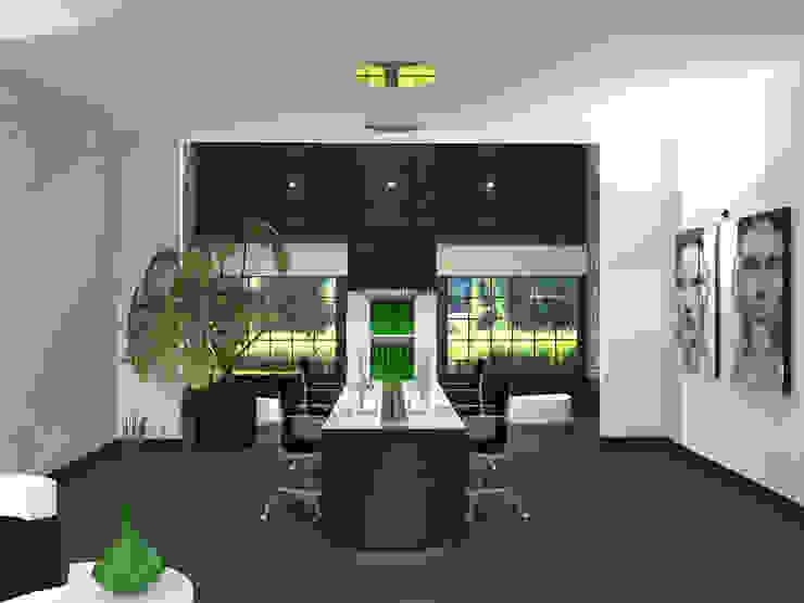 Bureau Moderne kantoor- & winkelruimten van VAN VEEN INTERIOR DESIGN Modern Hout Hout