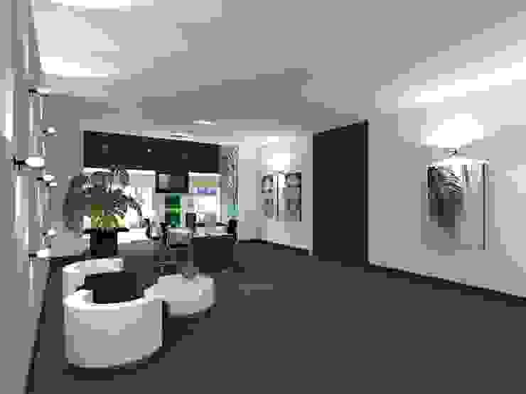 Kantoor Moderne kantoor- & winkelruimten van VAN VEEN INTERIOR DESIGN Modern Hout Hout