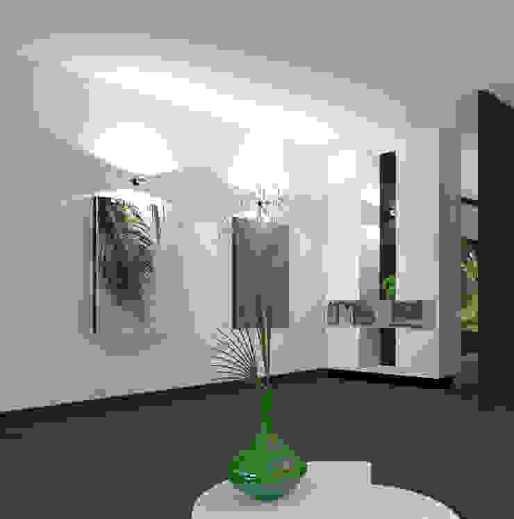 Ensuitekast links Moderne kantoor- & winkelruimten van VAN VEEN INTERIOR DESIGN Modern Hout Hout
