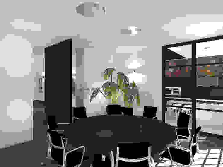 Vergaderruimte Moderne kantoor- & winkelruimten van VAN VEEN INTERIOR DESIGN Modern Hout Hout