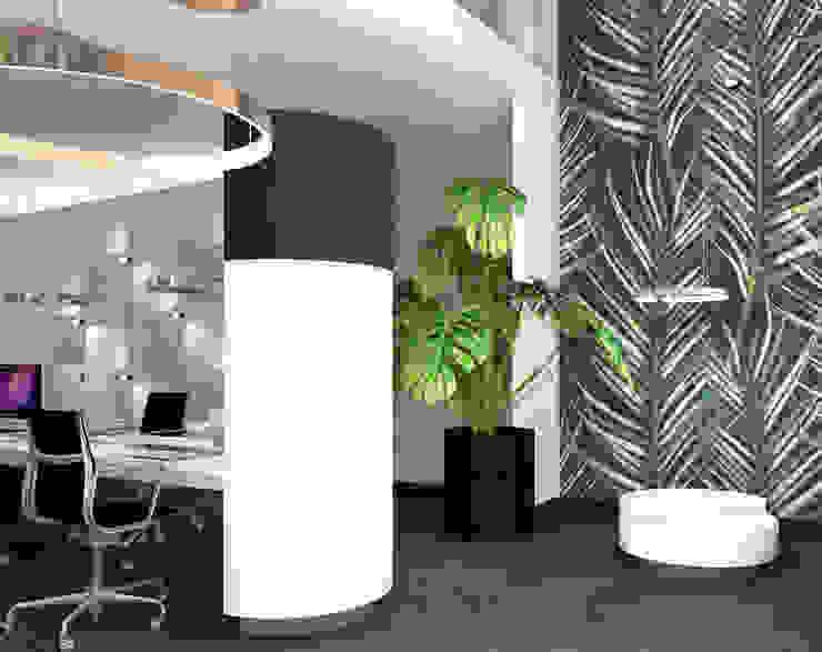Seperate zitruimte Moderne kantoor- & winkelruimten van VAN VEEN INTERIOR DESIGN Modern Hout Hout