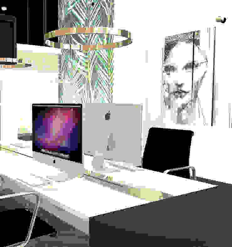 Bureau 4 personen Moderne kantoor- & winkelruimten van VAN VEEN INTERIOR DESIGN Modern Hout Hout