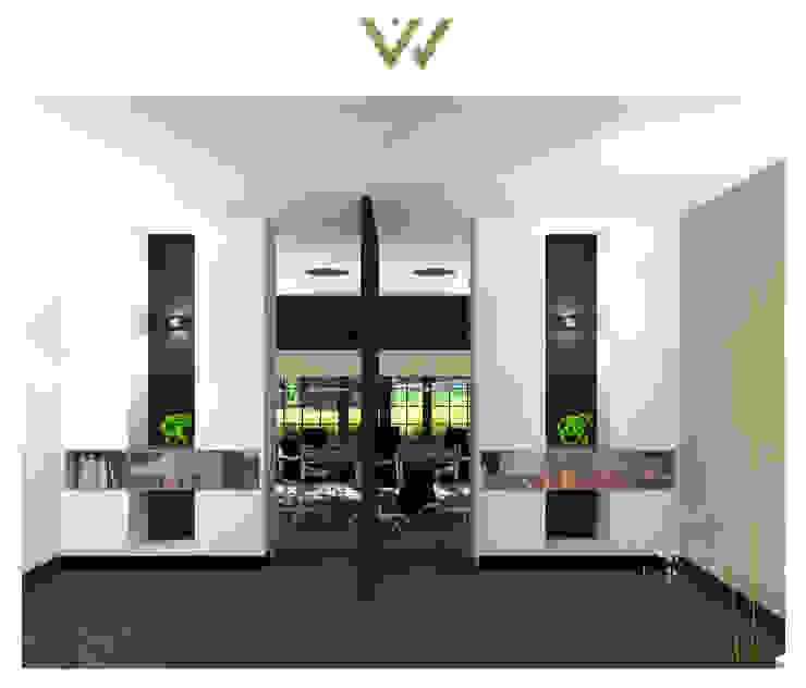 Ensuitekasten met taatsdeur Moderne kantoor- & winkelruimten van VAN VEEN INTERIOR DESIGN Modern Hout Hout