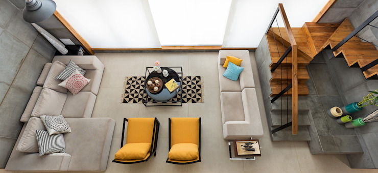 Industriale Wohnzimmer von Studio Nishita Kamdar Industrial