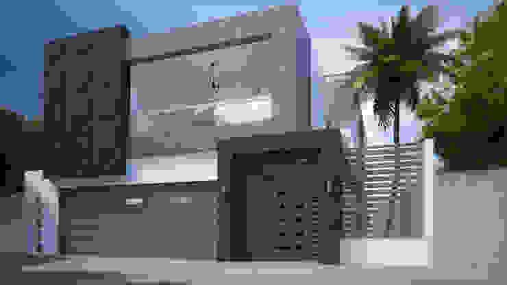 von Arq. Alejandro Garza Minimalistisch Beton