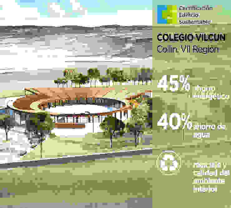 Colegio Vilcún Casas estilo moderno: ideas, arquitectura e imágenes de Pasiva Moderno