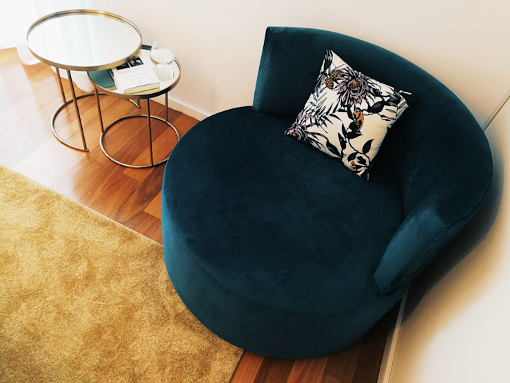 de YS PROJECT DESIGN Moderno Textil Ámbar/Dorado
