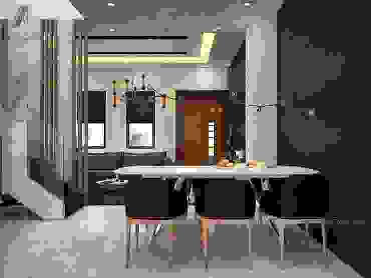THIẾT KẾ NỘI THẤT BIỆT THỰ LAKEVIEW CITY 110M2 NHÀ CHỊ LINH Phòng ăn phong cách hiện đại bởi Nội Thất An Lộc Hiện đại