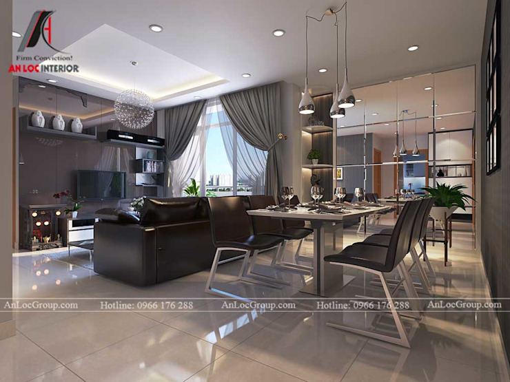 Гостиная в стиле модерн от Nội Thất An Lộc Модерн