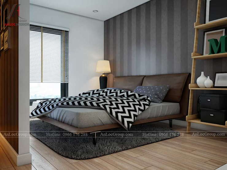 NỘI THẤT CĂN HỘ ĐẸP TẠI VINCOM CENTER Phòng ngủ phong cách hiện đại bởi Nội Thất An Lộc Hiện đại