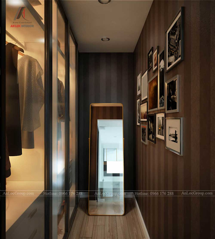 NỘI THẤT CĂN HỘ ĐẸP TẠI VINCOM CENTER Phòng thay đồ phong cách hiện đại bởi Nội Thất An Lộc Hiện đại