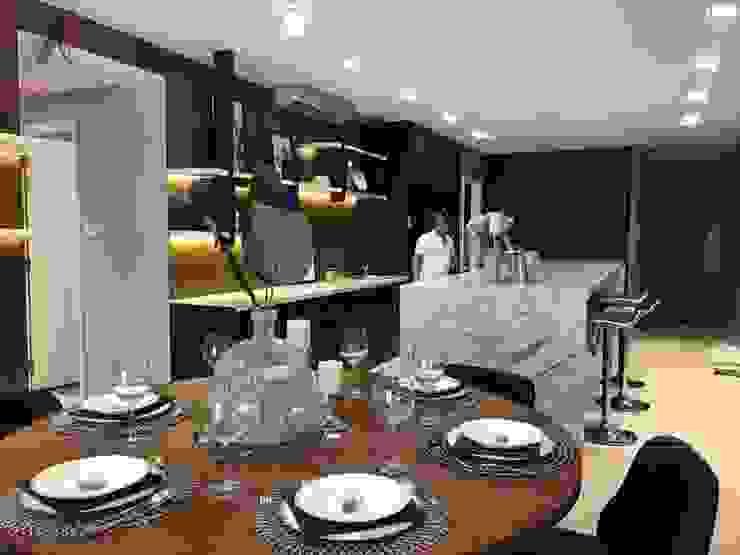 THI CÔNG NỘI THẤT CHUNG CƯ TẠI VINCITY GIA LÂM, HÀ NỘI Nhà bếp phong cách hiện đại bởi Nội Thất An Lộc Hiện đại