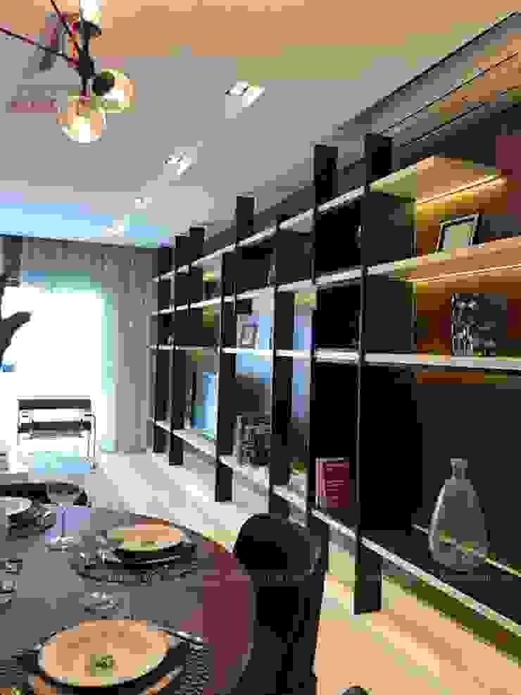 THI CÔNG NỘI THẤT CHUNG CƯ TẠI VINCITY GIA LÂM, HÀ NỘI Phòng ăn phong cách hiện đại bởi Nội Thất An Lộc Hiện đại
