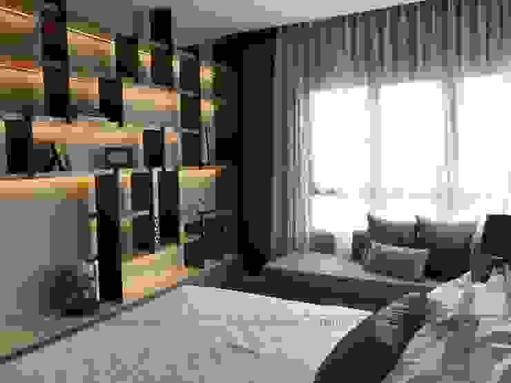 THI CÔNG NỘI THẤT CHUNG CƯ TẠI VINCITY GIA LÂM, HÀ NỘI Phòng ngủ phong cách hiện đại bởi Nội Thất An Lộc Hiện đại