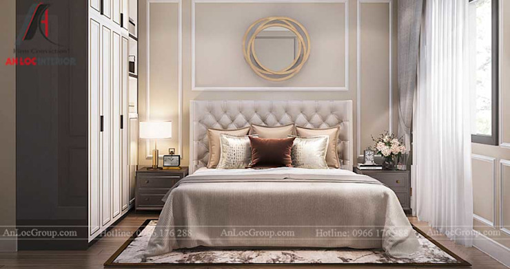 THIẾT KẾ NỘI THẤT BIỆT THỰ TÂN CỔ ĐIỂN TẠI AN KHANG VILLA Phòng ngủ phong cách kinh điển bởi Nội Thất An Lộc Kinh điển