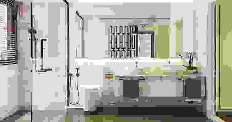 THIẾT KẾ NỘI THẤT BIỆT THỰ TÂN CỔ ĐIỂN TẠI AN KHANG VILLA Phòng tắm phong cách kinh điển bởi Nội Thất An Lộc Kinh điển