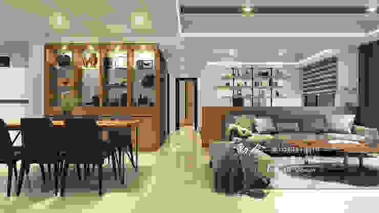 客廳/餐廳/沙發背牆/低調極簡的現代禪風 现代客厅設計點子、靈感 & 圖片 根據 木博士團隊/動念室內設計制作 現代風