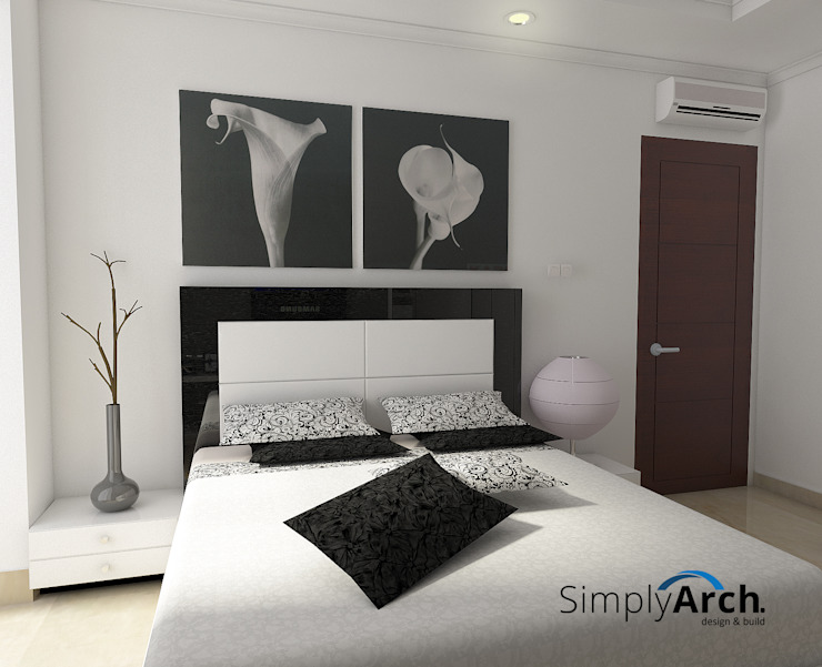 Bedroom at Pantai Indah Kapuk, North Jakarta Kamar Tidur Minimalis Oleh Simply Arch. Minimalis