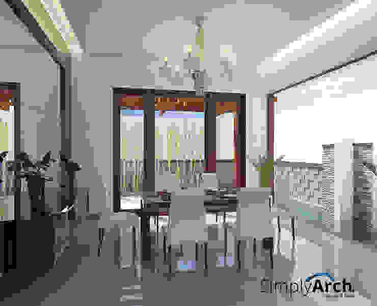 W-House at Pluit, North Jakarta Ruang Makan Modern Oleh Simply Arch. Modern