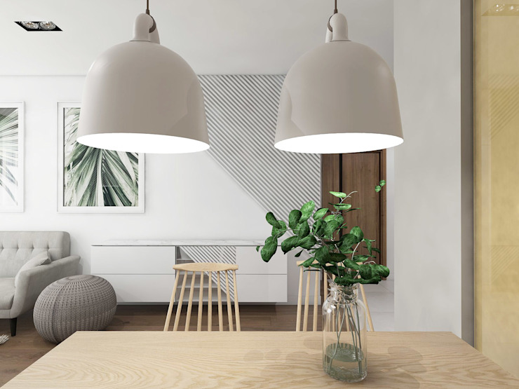 Modern Living Room by UTOO-Pracownia Architektury Wnętrz i Krajobrazu Modern