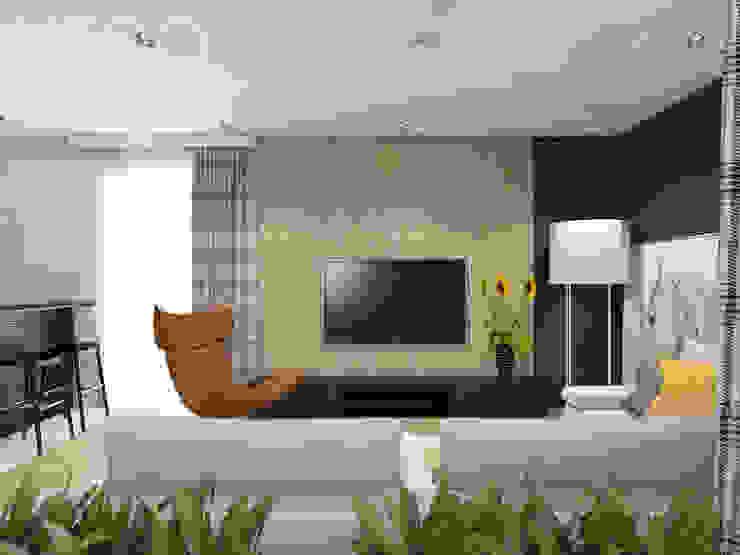 Salas de estar escandinavas por UTOO-Pracownia Architektury Wnętrz i Krajobrazu Escandinavo