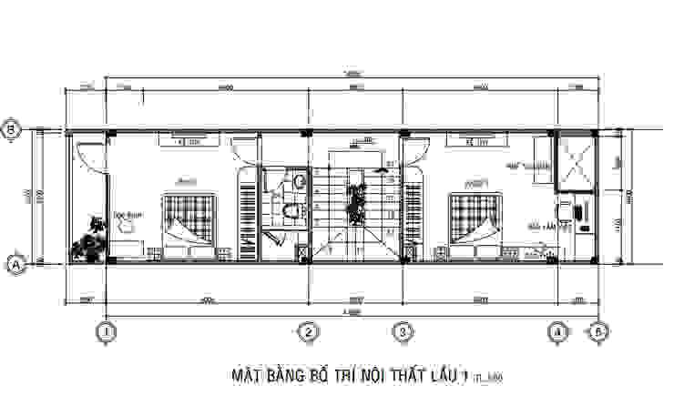 Nhà Phố 3 Tầng 4x15m Đẹp Tinh Tế Với Chi Phí Hoàn Thiện 1,18 Tỷ Công ty Thiết Kế Xây Dựng Song Phát Nhà phong cách châu Á