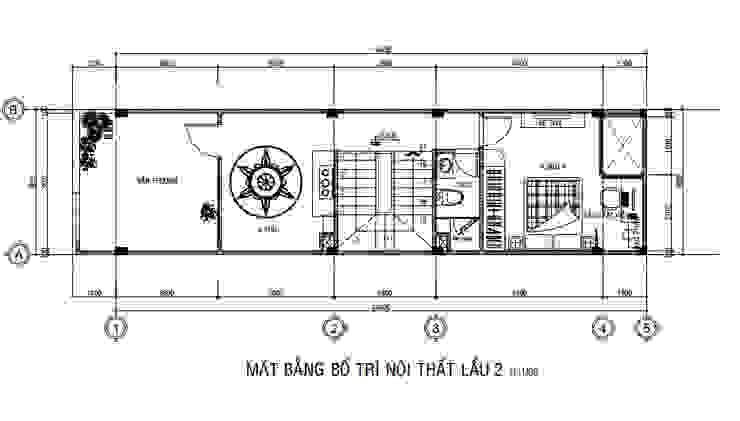 Nhà Phố 3 Tầng 4x15m Đẹp Tinh Tế Với Chi Phí Hoàn Thiện 1,18 Tỷ Công ty Thiết Kế Xây Dựng Song Phát Nhà gia đình