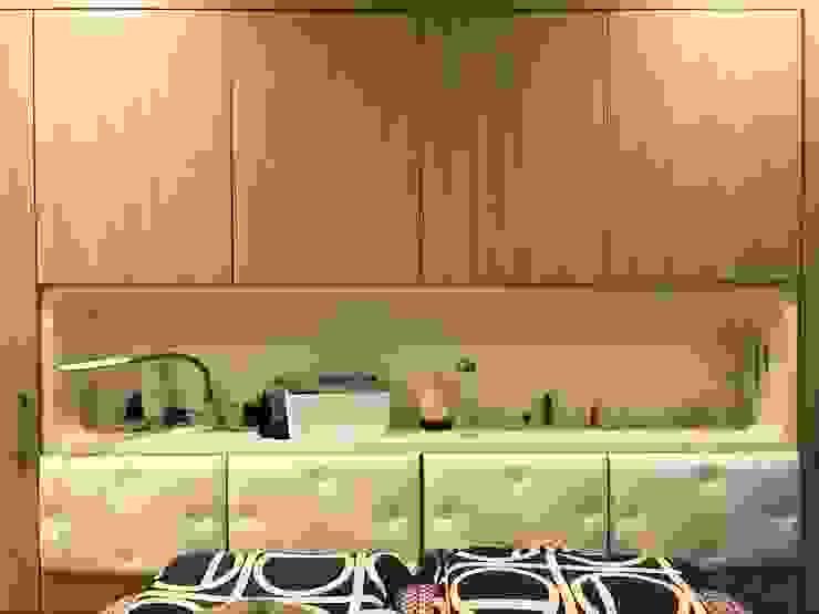 床頭與收納一體呈現 根據 圓方空間設計 日式風、東方風 合板