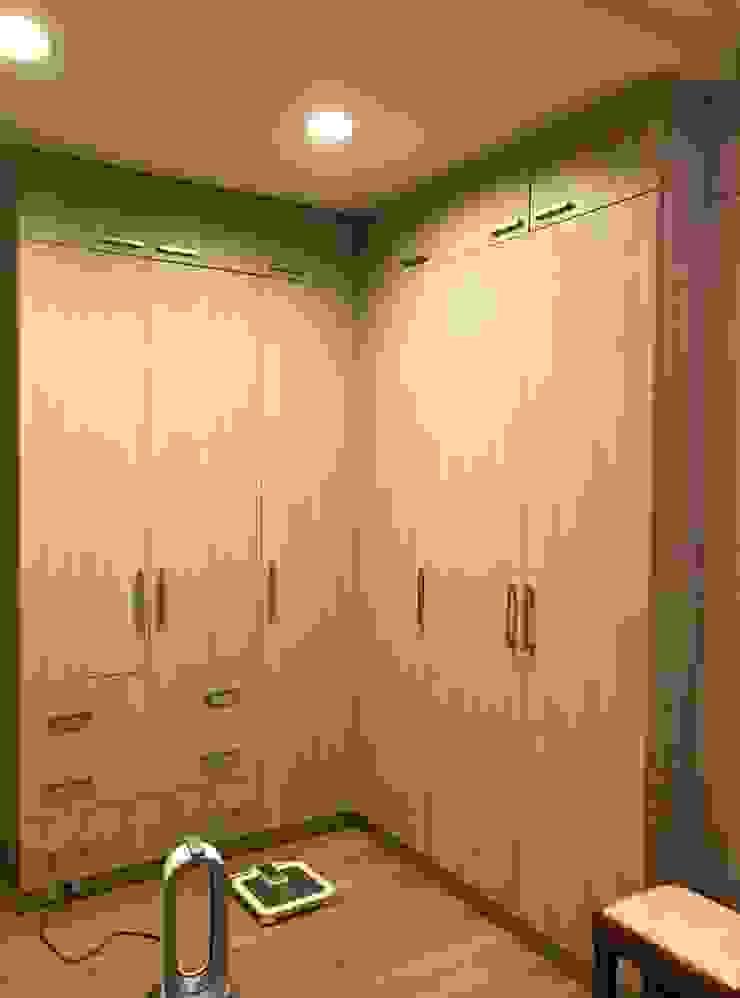 量身訂作的衣櫃 根據 圓方空間設計 日式風、東方風 合板