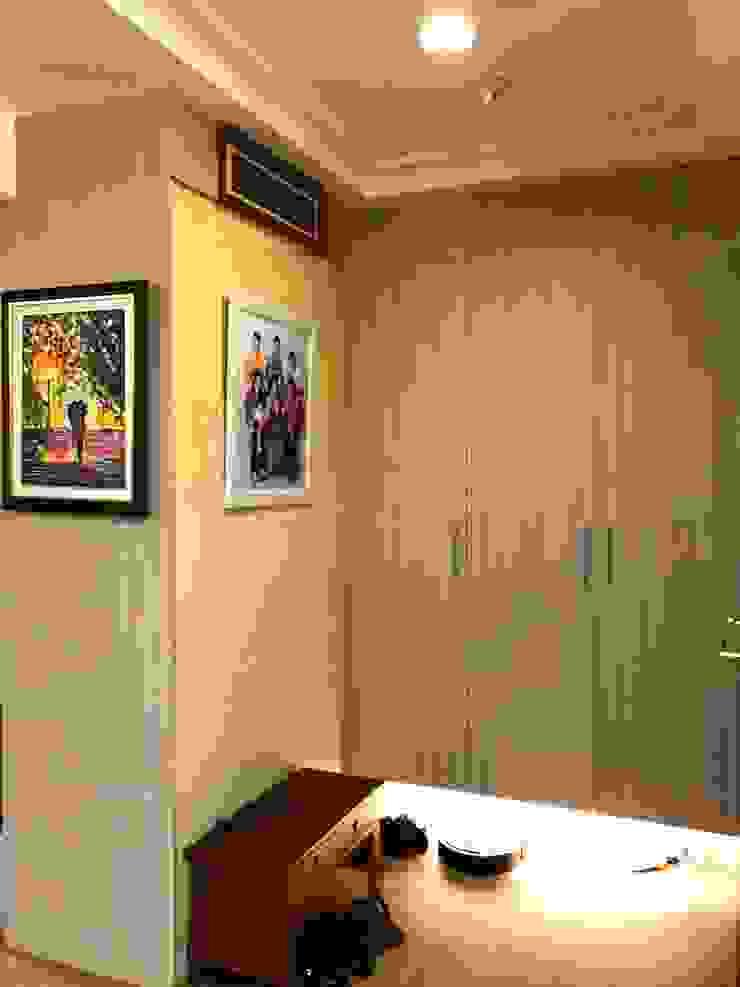 玄關的置物與鞋櫃 亞洲風玄關、階梯與走廊 根據 圓方空間設計 日式風、東方風 合板
