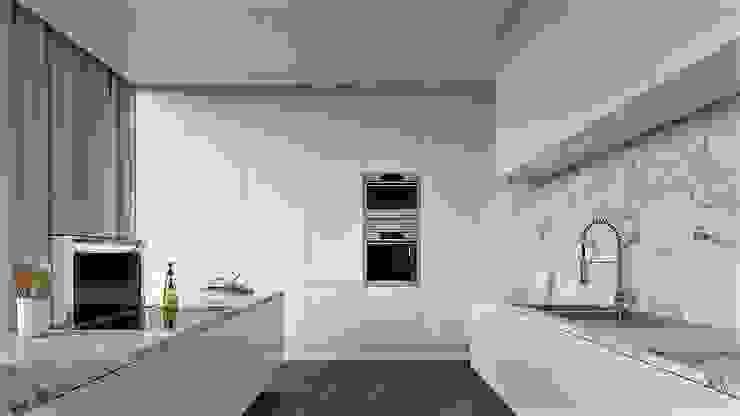 Cocinas de estilo moderno de EsboçoSigma, Lda Moderno