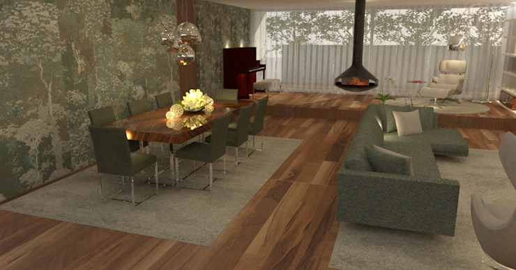 Modern living room by Casactiva Interiores Modern Wood Wood effect