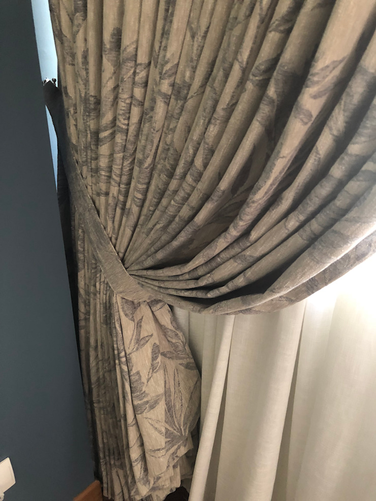 Belgium Fabric Night Curtains by Window Essentials Textile Amber/Gold