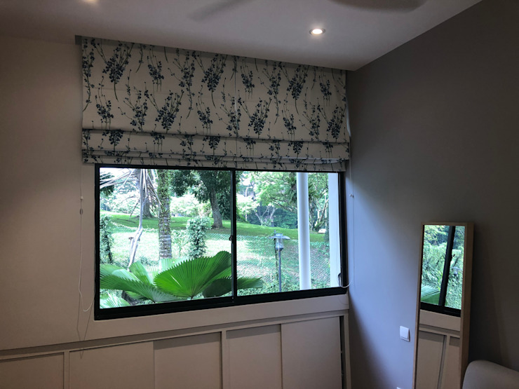 Roman Blinds by Window Essentials Textile Amber/Gold